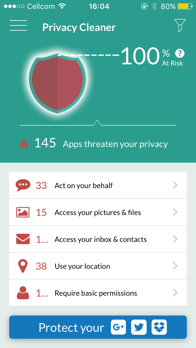 MyPermissions screenshot