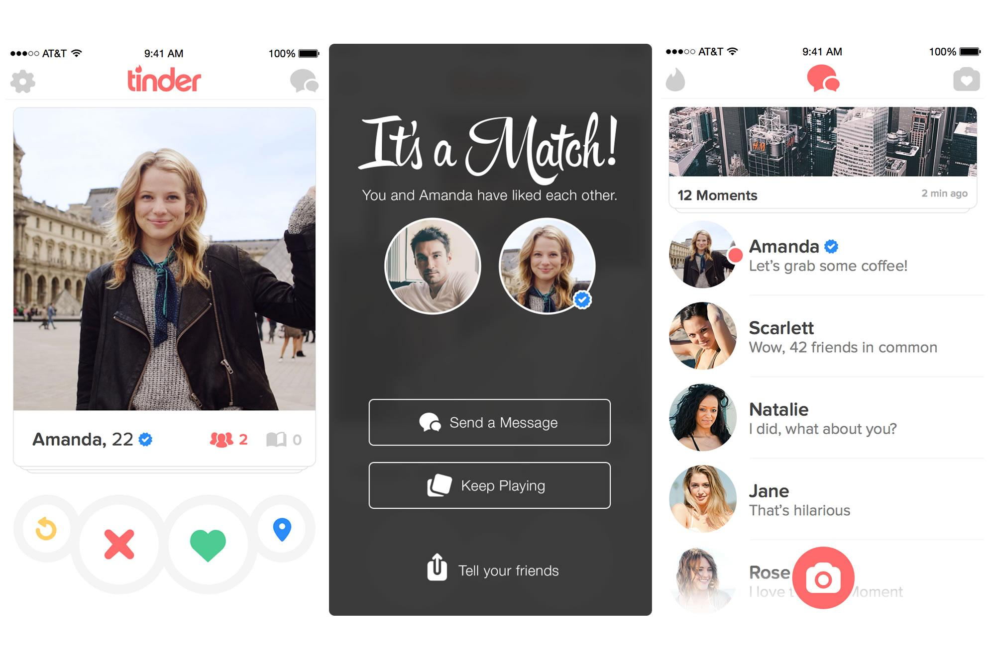 Screenshot of Tinder