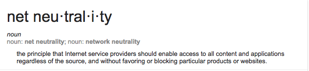 Google definition of net neutrality