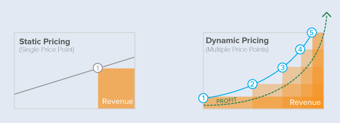 Static pricing vs. Dynamic pricing